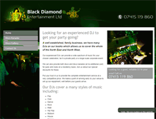 Tablet Preview of blackdiamond-disco.co.uk